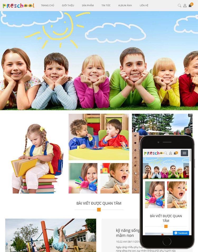 Website cho con yêu