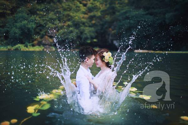 Bộ ảnh cưới dưới nước đẹp lịm tim của cặp đôi Hà thành
