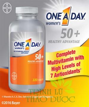 ONE ADAY WOMEN'S 50+ HEALTHY ADVANTAGE - VIÊN UỐNG BỔ SUNG DINH DƯỠNG CHO PHỤ NỮ 50+