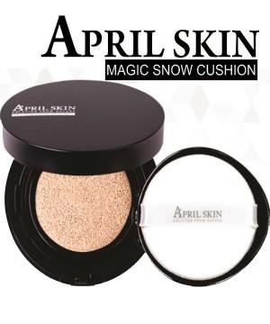 PHẤN NƯỚC MA THUẬT APRIL SKIN MAGIC SNOW  CUSHION SPF 50++