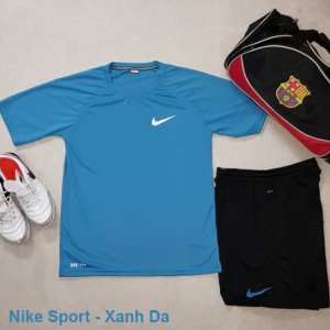 Set thể thao nam Nike Sport Xanh Da