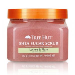 Tẩy tế bào chết cơ thể Tree Hut Shea Sugar Scrub Lychee & Plum - 700322