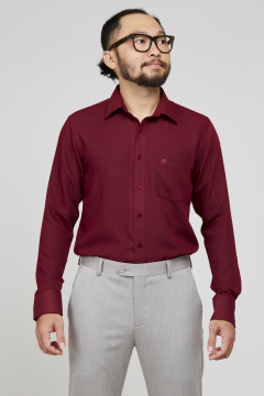 Áo sơ mi đỏ đậm regular fit