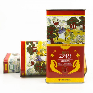 Hồng sâm củ khô cao cấp 6 năm tuổi chính hãng Daedong Hàn Quốc (Hộp thiếc 75g)