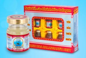 Nước Yến Sào Collagen Khánh Hòa Sanest (Hộp 6 lọ x 70ml)
