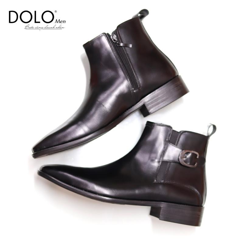 Giày da nam Dolomen- Giày da công sở xịn 2020