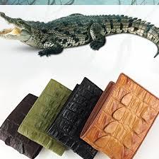 Thắt lưng da cá sấu hoa cà