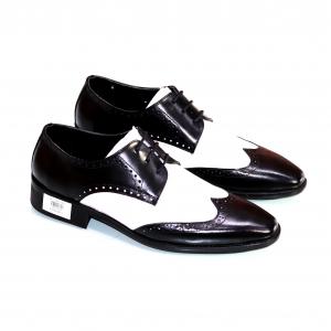 Giày Tây Trắng Đen DOLO Men XGD11