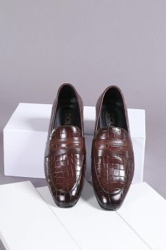 Giày Da Dập Vân DOLO Men VTL11