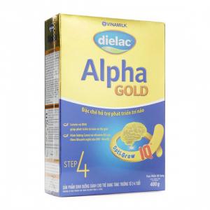 Dielac Alpha Gold IQ 4 / Hộp Giấy 400g ( 2- 6 Tuổi)