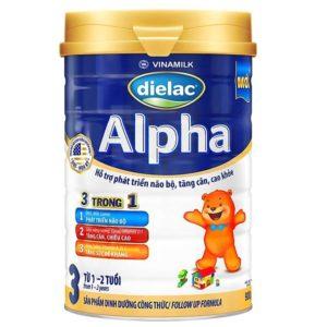 Sữa Bột Vinamilk Dielac Alpha 3 / 900g ( 1-2 tuổi)