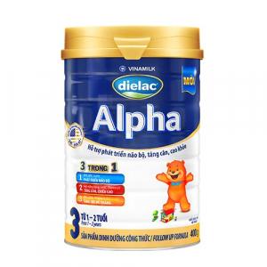 Sữa Bột Vinamilk Dielac Alpha 3 / 400g ( 1- 2 Tuổi)