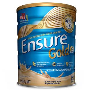 Sữa EnSure Gold ít ngọt Hương Lúa Mạch / 850g