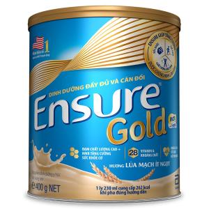 Sữa EnSure Gold ít ngọt Hương Lúa Mạch / 400g