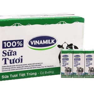 SỮA TƯƠI VINAMILK BÒ 100% CÓ ĐƯỜNG  / 180ML