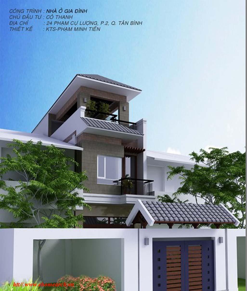Thiêt kế nhà ở gia đình - Cô Thanh Tân Bình