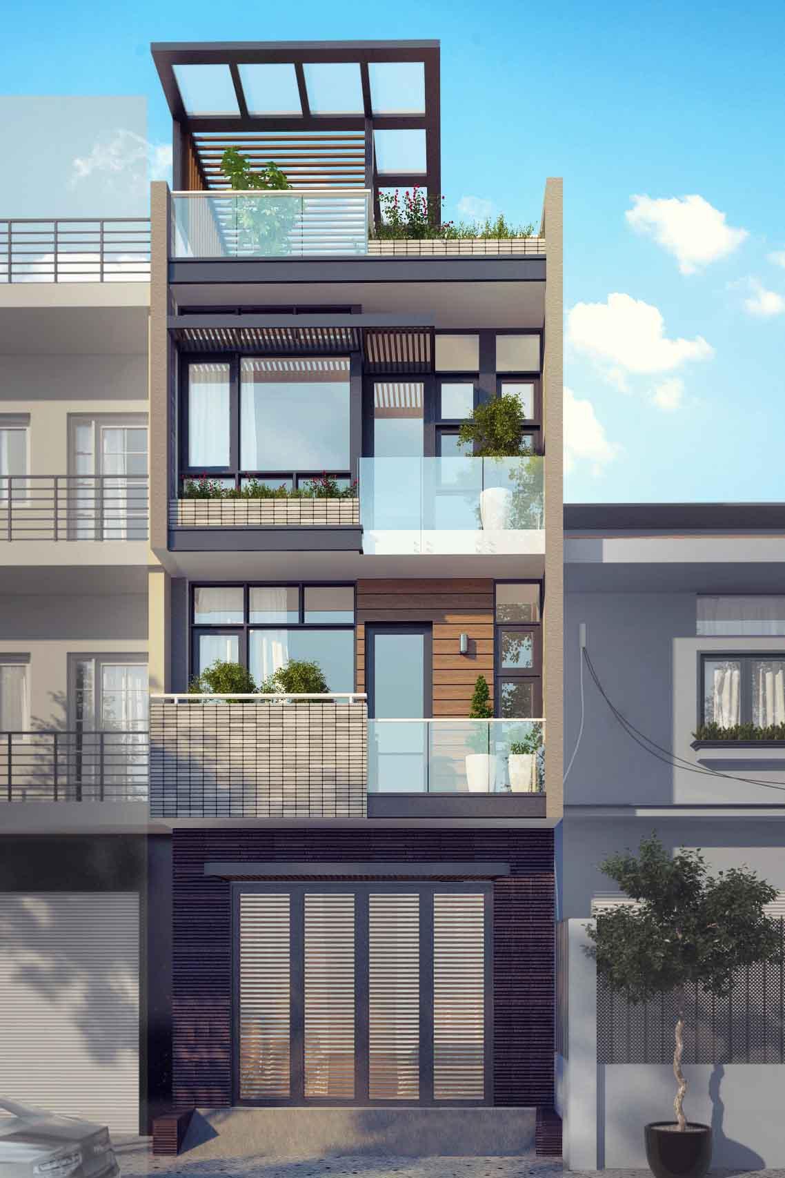 Thiết kế nhà phố 5x20m - Anh Tâm, Q.Bình Thạnh