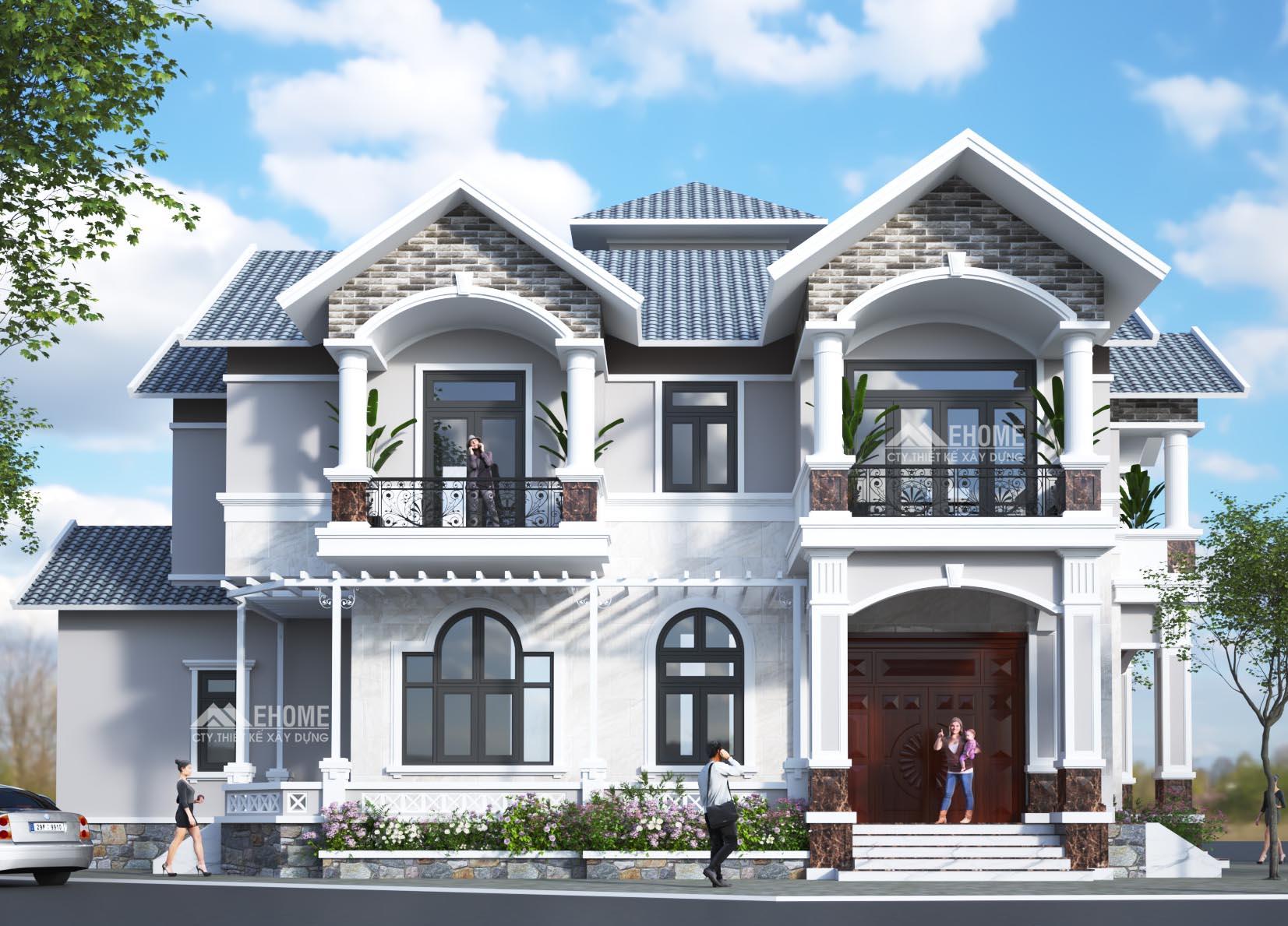 Nhà mái Thái 2 mặt tiền