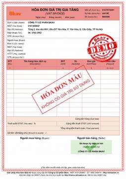 Mẫu hóa đơn điện tử miễn phí