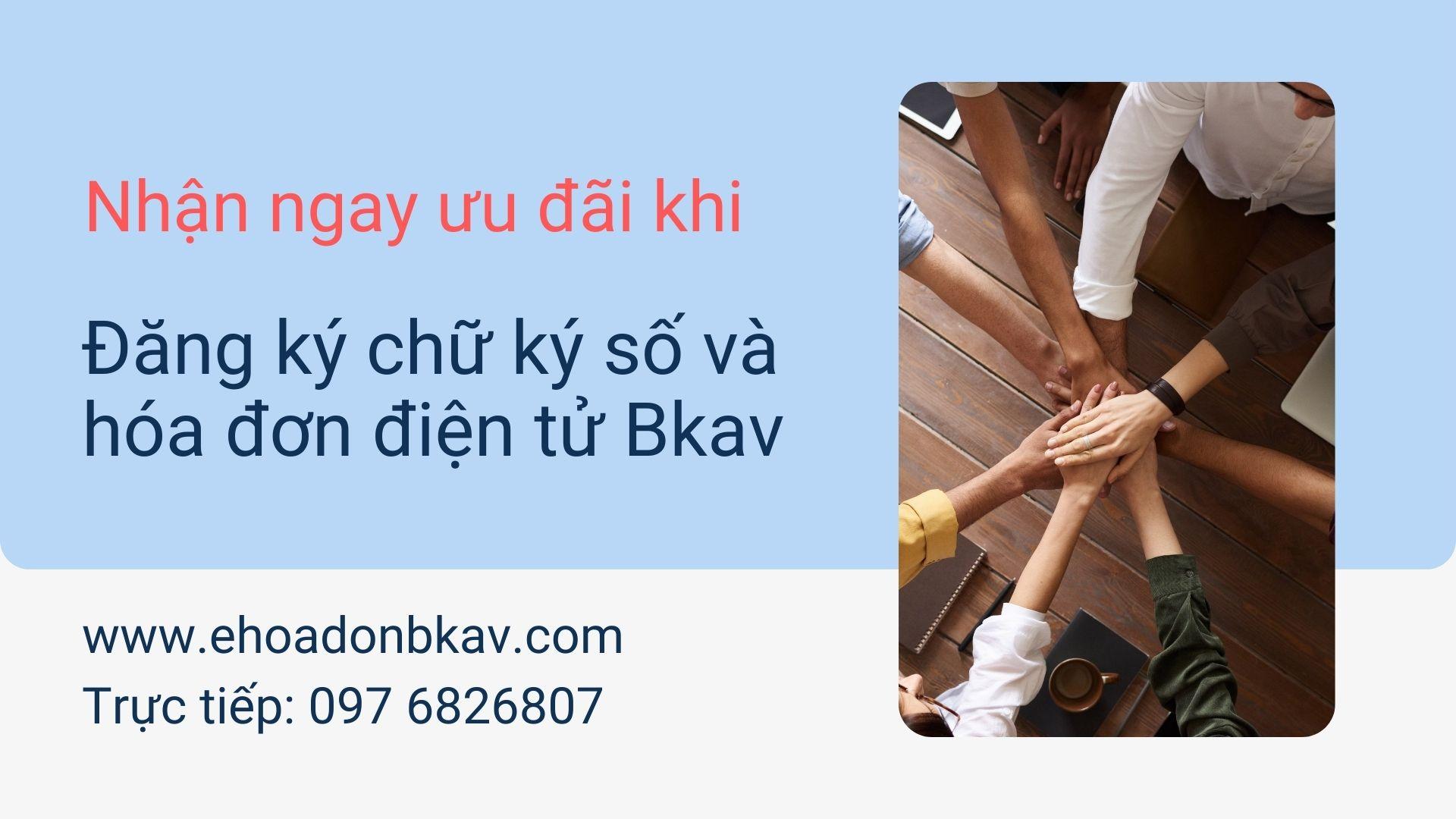 Đăng ký chữ ký số và hóa đơn điện tử Bkav