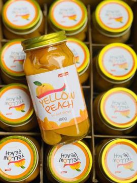 Đào ngâm Hàn Yellow Peach (680gr/hủ)