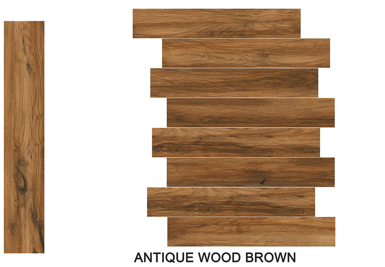 Antique wood brown