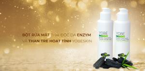 Bột Rửa Mặt Enzym Và Than Tre Hoạt Tính Yobeskin (Yobeskin Bamboo Charcoal & Enzym Powder Wash