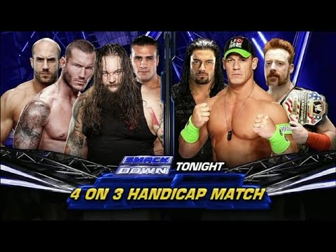 LUCHA COMPLETA: 4-on-3 Handicap Match | SmackDown ᴴᴰ