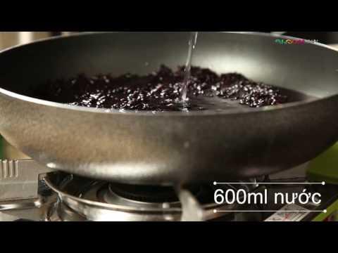 Cách làm Sữa chua nếp cẩm