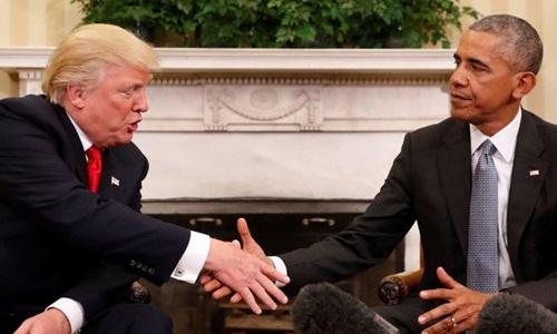 Obama với nhiệm vụ dẫn đường Trump vào Nhà Trắng