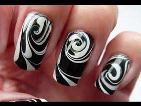 Hướng dẫn vẽ mabble nails siêu đơn giản