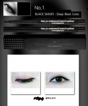 CHÌ KẺ VIỀN MẮT AERY JO WATERPROOF PENCIL EYELINER #No 01 (Black smoky)
