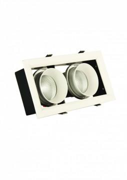 Đèn GRILL LIGHT Âm Trần GL-2*10-V227 , 2*10W.