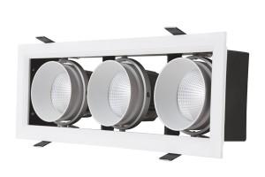 Đèn GRILL LIGHT Âm Trần GL-3*10-V334 , 3*10W.