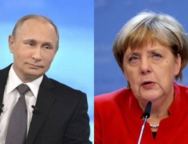 Tổng thống Nga, thủ tướng Đức điện đàm về Ukraine