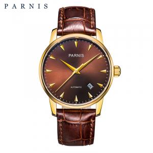 Thiết kế kinh điển đồng hồ nam Parnis PAP6038-4