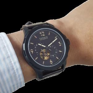 Thiết kế kinh điển của panerai đồng hồ nam Parnis PA6078-2