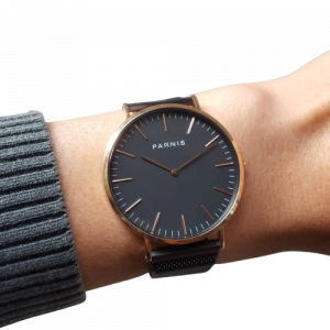 Thiết kế kinh điển đồng hồ nam Parnis PA6003-3