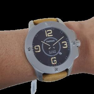 Thiết kế kinh điển của panerai đồng hồ nam Parnis PA6035-3