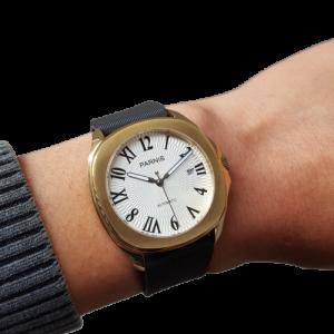 Thiết kế kinh điển đồng hồ nam Parnis P6022-1