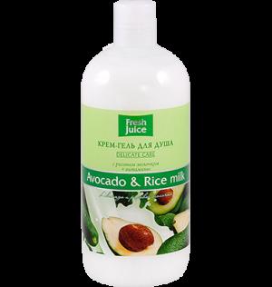 Gel tắm hương bơ và gạo, fresh juice, 500 ml