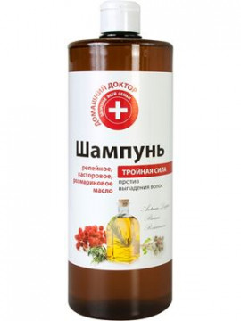 """""""Domashnij Doctor"""" Dầu gội 3 tác động chống rụng tóc, 1000ml"""