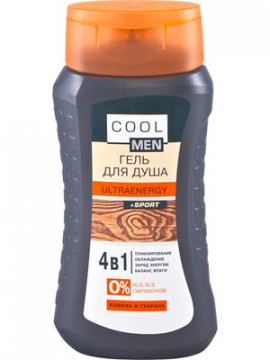 """Cool men""""ULTRAENERGY+Sport"" Gel tắm, 250ml"