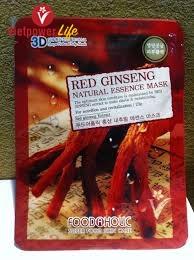 MẶT NẠ HỒNG SÂM 3D HÀN QUỐC - RED GINSENG NATURAL ESSENCE MASK