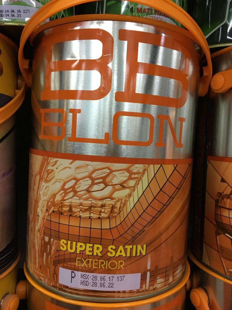 Sơn Boss ngoại thất siêu bóng SUPER SATIN 5L (GỐC P)