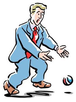 THÀNH NGỮ : DROP THE BALL