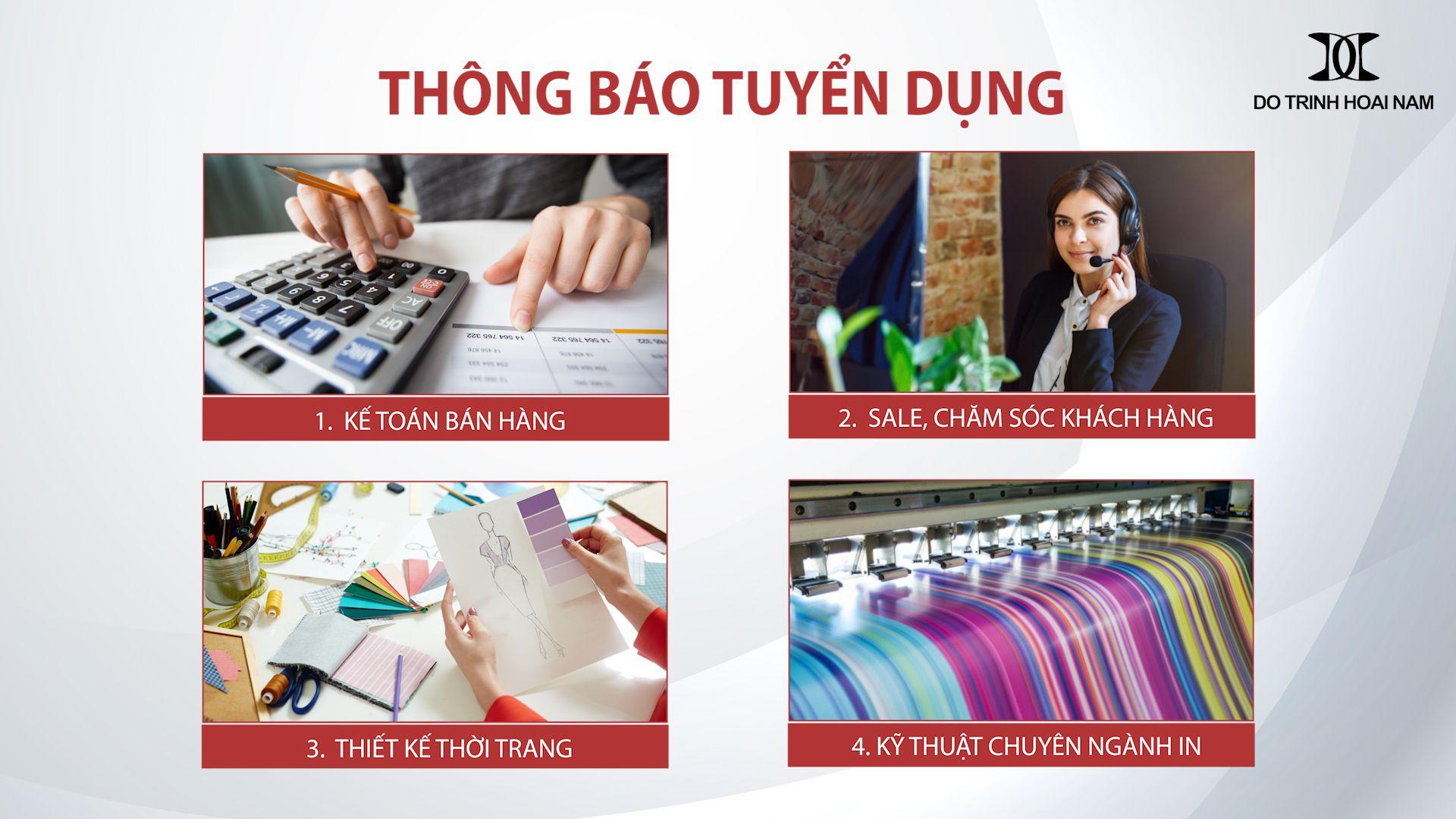 THÔNG BÁO TUYỂN DỤNG - Công ty TNHH Nghiên cứu & Phát triển Sản phẩm Thời trang D&T