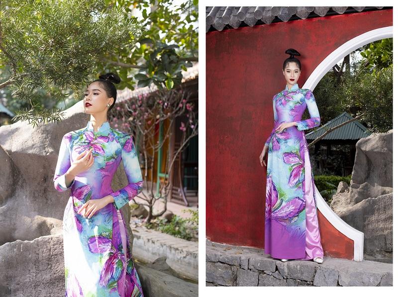 Người đẹp biển Nguyễn Hoàng Bảo Châu kiêu sa đến mê đắm trong tà Áo Dài Đỗ Trịnh Hoài Nam