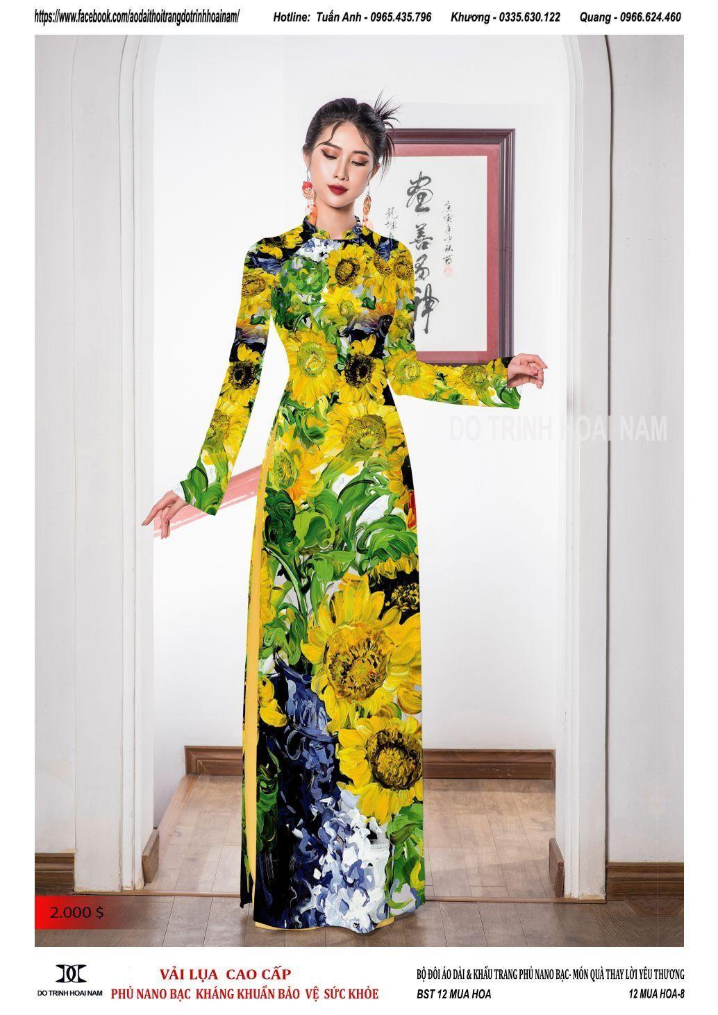 áo dài hoa hướng dương