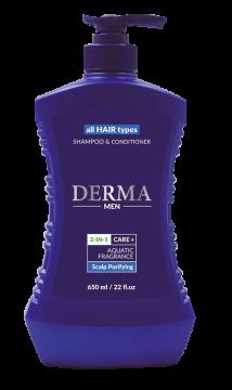 Dầu Gội & Xã Derma 2 in 1 Care+ Aquatic Fragrance Scalp Purifying